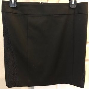 Express Skirts - Express Short Black Skirt with Lace